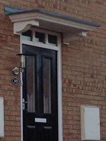 Basic Door Canopy & fibre glass columns pillar canopies and porches | Bedford Glass Fibre