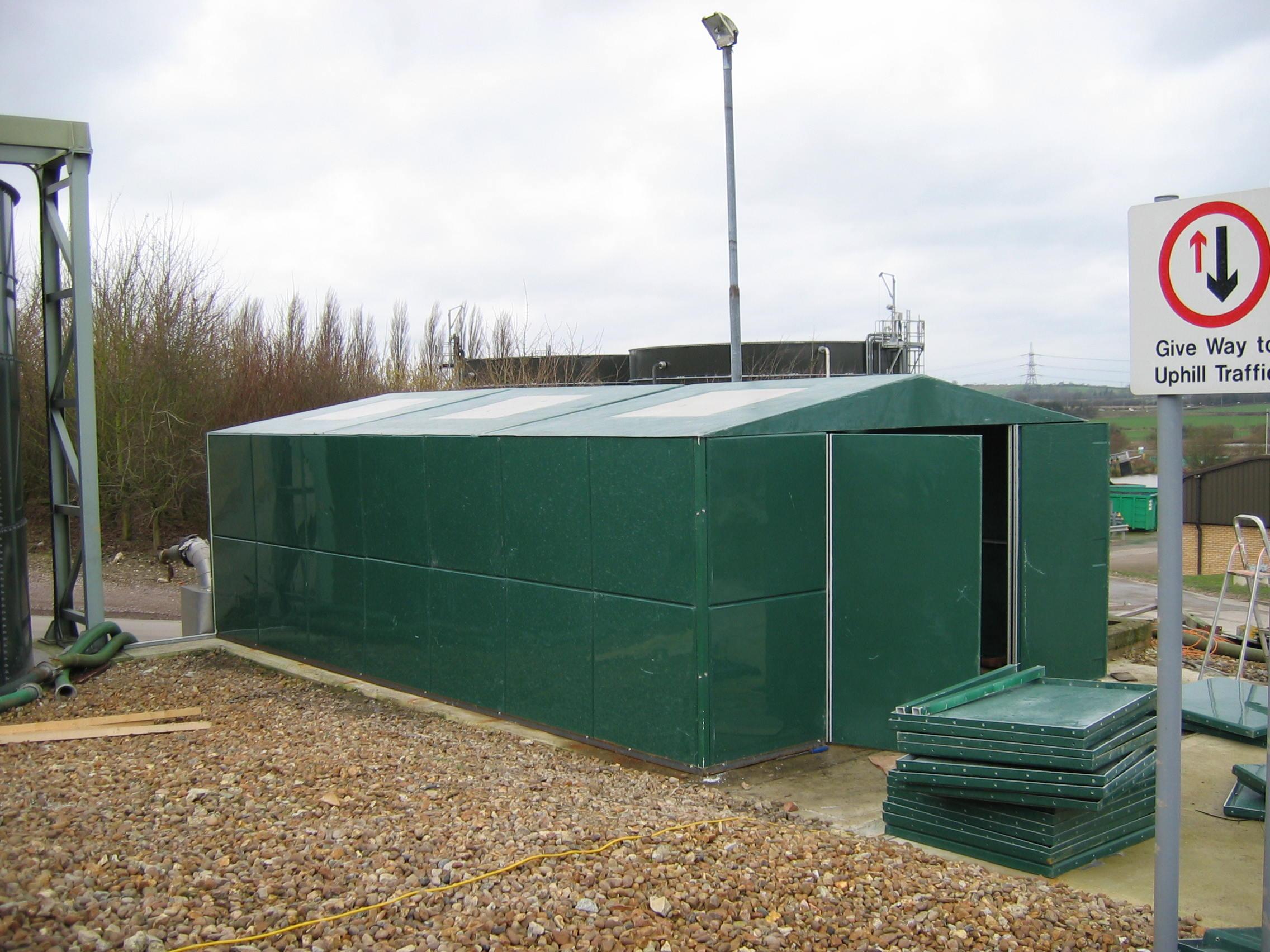 GRP Large Pump Cover & Modular Building